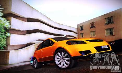 Suzuki SX4 Sportback Black 2011 для GTA San Andreas вид справа