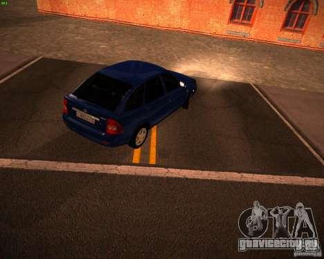 ВАЗ 2172 Рестайл для GTA San Andreas вид сзади