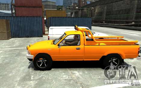 Toyota Hilux 1989-1993 Single cab v1 для GTA 4 вид слева