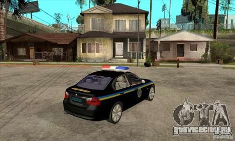 BMW 3 Series ДПС для GTA San Andreas вид справа