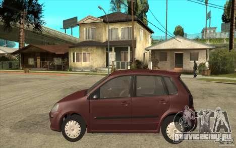 Volkswagen Polo 2006 для GTA San Andreas вид слева