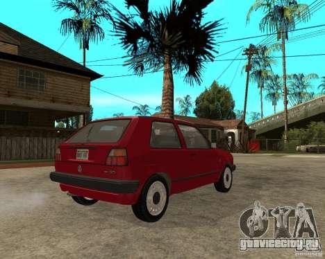 Volkswagen Golf Mk.II для GTA San Andreas вид сзади слева