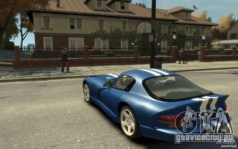 Dodge Viper GTS для GTA 4 вид сзади слева