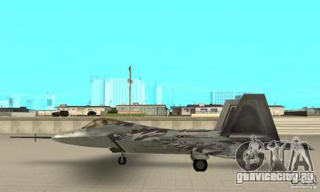 YF-22 Starscream для GTA San Andreas вид слева