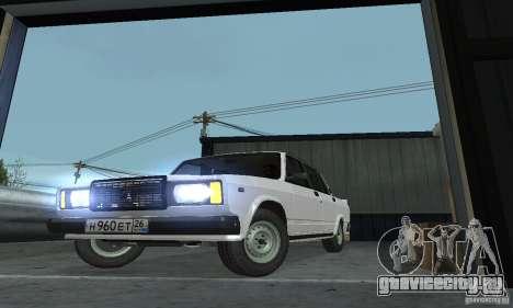 Vaz 2107 Stock v.2 для GTA San Andreas вид справа