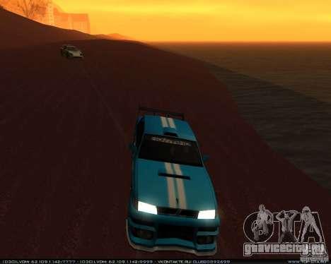 Новые винилы на Sultan для GTA San Andreas вид сзади