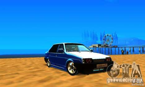 ВАЗ 21099 для GTA San Andreas вид сзади слева