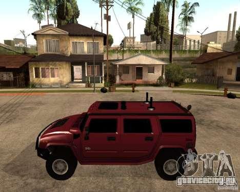Hummer H2 SE для GTA San Andreas вид слева