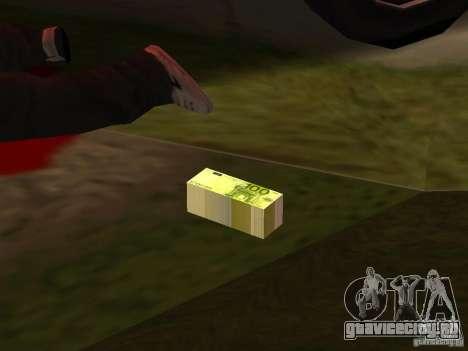 Euro money mod v 1.5 100 euros II для GTA San Andreas