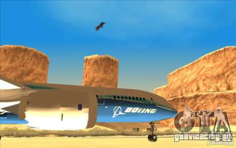 Boeing 787 Dreamlinear для GTA San Andreas вид справа