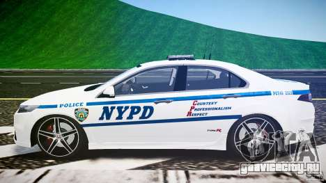 Honda Accord Type R NYPD (City Patrol 2322) ELS для GTA 4 вид изнутри