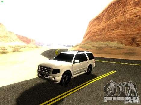 Ford Expedition 2008 для GTA San Andreas вид изнутри
