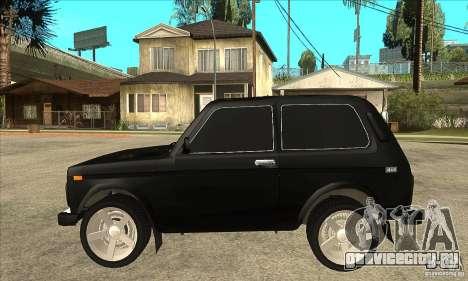 ВАЗ 21213 НИВА с тонировкой для GTA San Andreas вид слева