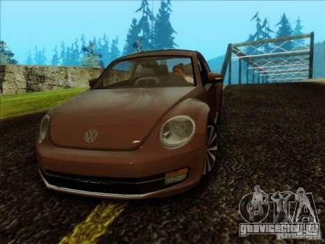 Volkswagen Beetle Turbo 2012 для GTA San Andreas вид сзади