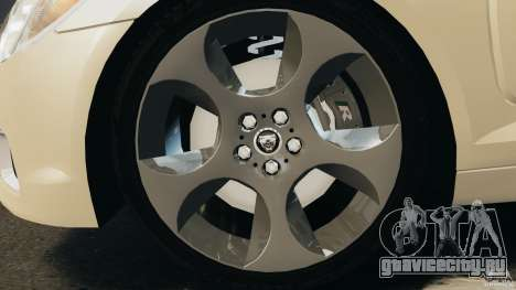Jaguar XFR 2010 v2.0 для GTA 4 вид справа