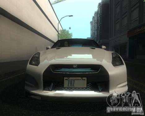 Nissan GTR R35 Spec-V 2010 Stock Wheels для GTA San Andreas вид сбоку