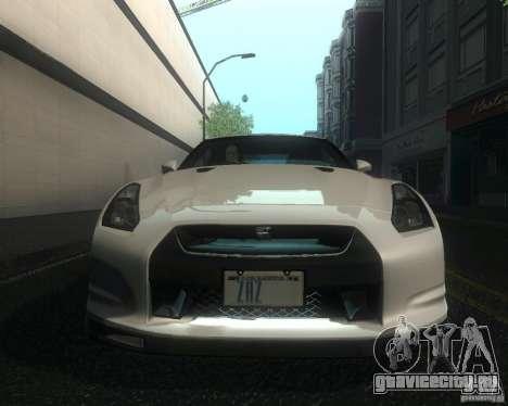 Nissan GTR R35 Spec-V 2010 Stock Wheels для GTA San Andreas вид сбоку