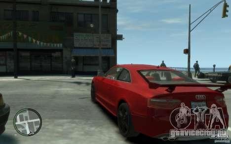 Audi S5 v2 для GTA 4 вид сзади слева