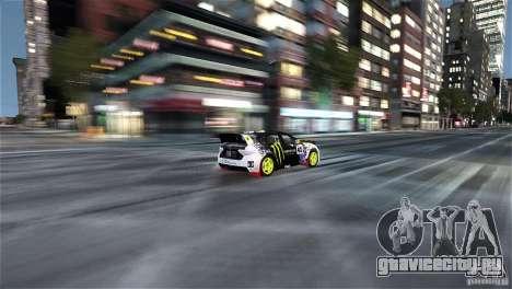 Subaru Impreza WRX STI Rallycross Monster Energy для GTA 4 вид изнутри