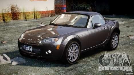 Mazda MX-5 для GTA 4 вид сзади