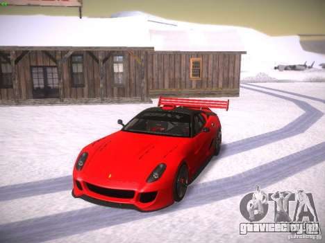 Ferrari 599XX для GTA San Andreas вид сверху