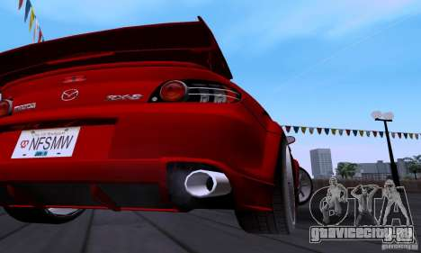 Mazda RX-8 Speed для GTA San Andreas вид изнутри
