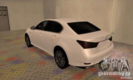 Lexus GS350 F Sport Series IV 2013 для GTA San Andreas вид справа
