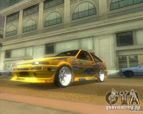 Ae86 tuned by Xavier для GTA San Andreas вид сзади слева
