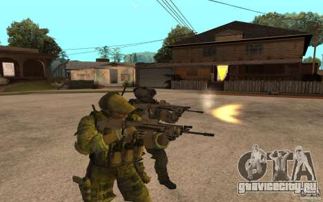 SCAR FN MK16 для GTA San Andreas второй скриншот