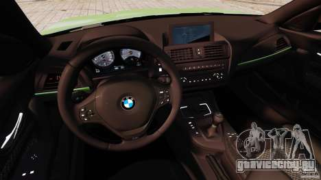 BMW M135i 2013 для GTA 4 вид сзади