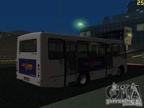Богдан A09202 v2 для GTA San Andreas вид сзади