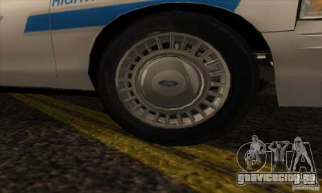 Ford Crown Victoria Arizona Police для GTA San Andreas вид справа