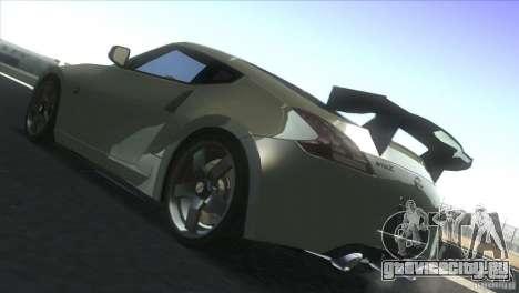 Nissan 370Z Drift 2009 V1.0 для GTA San Andreas вид сзади