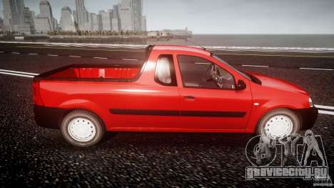 Dacia Logan Pick-up ELIA tuned для GTA 4 вид сбоку
