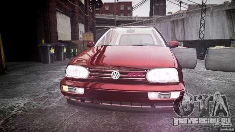 Volkswagen Golf MK3 GTI для GTA 4 вид изнутри