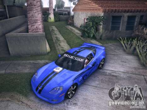 Chevrolet Corvette C6 Z06 Tuning для GTA San Andreas вид сверху