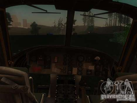 Вертолёт huey из call of duty black ops для GTA San Andreas вид слева