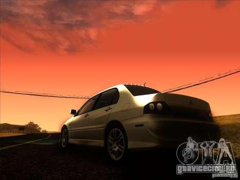 Mitsubishi Lancer Evolution IX MR для GTA San Andreas вид снизу