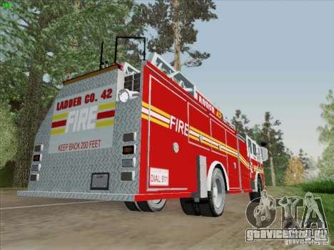 Seagrave Ladder 42 для GTA San Andreas вид сзади