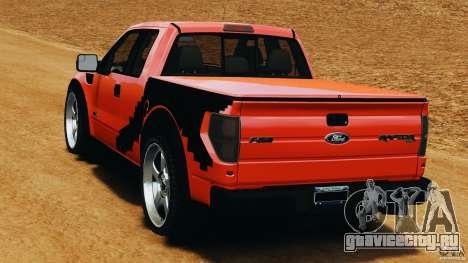 Ford F-150 SVT Raptor для GTA 4 вид сзади слева