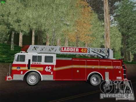Seagrave Ladder 42 для GTA San Andreas вид изнутри