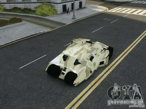 HQ Batman Tumbler для GTA 4 вид сверху