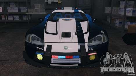 Dodge Viper SRT-10 ACR ELITE POLICE [ELS] для GTA 4 вид сбоку
