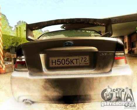 Subaru Legacy 3.0 R tuning для GTA San Andreas вид изнутри
