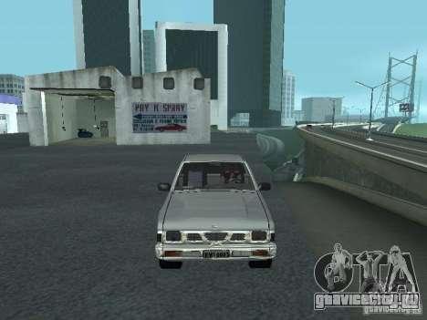 Nissan Pick-up D21 для GTA San Andreas вид снизу