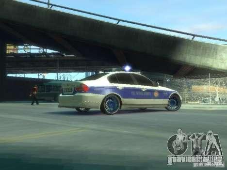 BMW 320i Police для GTA 4 вид сзади