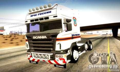 Scania R620 МЧС России для GTA San Andreas вид сбоку