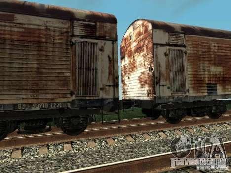 Рефрежираторный вагон Дессау №4 Ржавый для GTA San Andreas вид справа