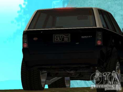 Huntley из GTA IV для GTA San Andreas вид справа