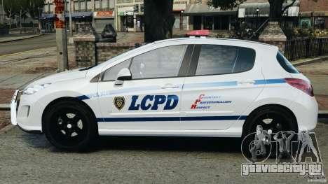 Peugeot 308 GTi 2011 Police v1.1 для GTA 4 вид слева